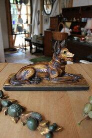 フランス ART DECO アールデコ PLASTER/石膏 犬の置物 02P03Dec16