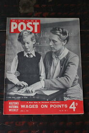 イギリス「PICTURE POST」1948年4月3日号 WAGES ON POINTS