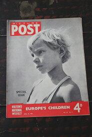 イギリス「PICTURE POST」1948年4月24日号 EUROPE'S CHILDREN