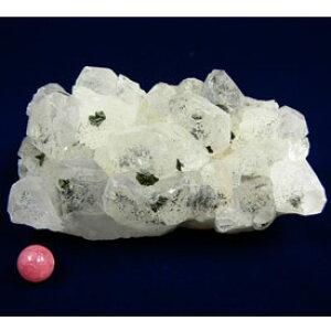 緑簾石 共生 水晶クラスター 天然石 パワーストーン 原石 水晶 クラスター