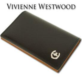 ヴィヴィアンウエストウッド Vivienne Westwood 馬革/牛革 レクス 名刺入れ メンズ ブラック コードバン 日本製 カードケース