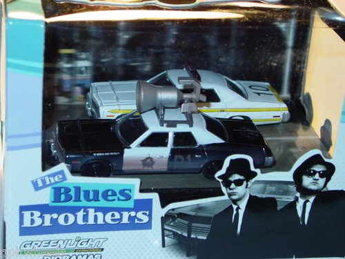US ダイキャストカー1:64 ブルースブラザーズ 1974 ダッジモナコ 2台セット