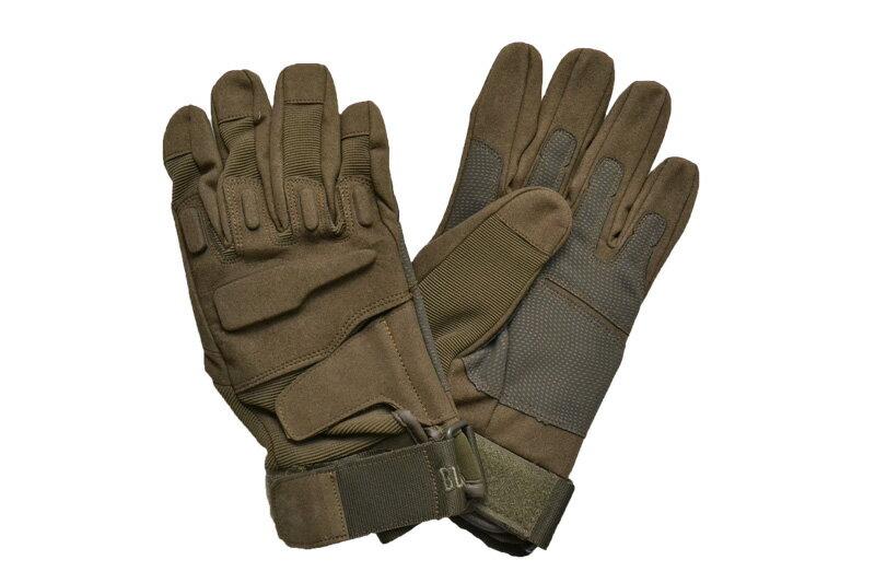 【数量限定価格】 タクティカルグローブ OD オリーブドラブ 緑色 セーム革 ナイロン サバゲー グローブ 手袋