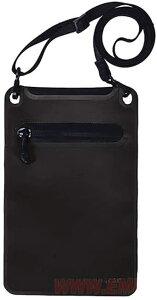 【送料無料 ネコポス便】EmersongearS Hot pressing pocket シームレス防水ポーチ 防水 スマホケース ポーチ 縦22cm 横14cm (ブラック 黒色)