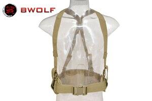 BWOLF製 PB012 MOLLEシステム タクティカルパットベルト ベルトホルダー サスペンダー付き (Mandrake マンドレイク迷彩柄)