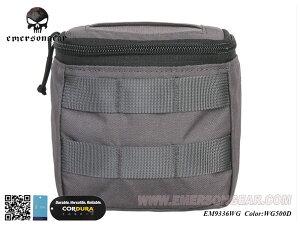 EMERSON製 MOLLEシステム Concealed グローブポーチ 手袋ポーチ (Wolf Grey WG ウルフグレー) YKKファスナー使用