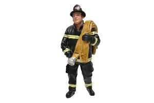1/18 American Diorama 消防士 消火ホースを持つ Firefighter - Job Done フィギュア ジオラマ 人形 男性