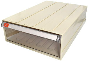 A4用紙 連結式 何個でも連結可能 パーツキャビネット 部品 収納 パーツケース レターケース キャビネット (1個入り, アイボリー)