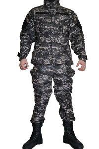 米海軍タイプ ピクセルグレー デジタルグレー レプリカ BDU 迷彩服 戦闘服 ジャケット&パンツ 上下セット