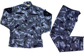 イギリス軍迷彩服 (青系) 上下セット ブラッシュパターン BDU 迷彩服 戦闘服 サバゲー
