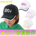 ビバハート/VIVA HEART(2017春夏新作!)Mesh Caps《ROUNDISH》 メッシュキャップ(レディース)ビバハート/ゴルフウェア/ポイント3...