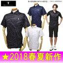 【30%OFFセール】T-MAC / ティーマック(2018春夏新作!)半袖ポロシャツ(メンズ)ゴルフウェア