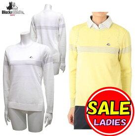 【40%OFF!セール】ブラック&ホワイト / ブラック アンド ホワイト/春夏モデル!/サマーニット/薄手 セーター(レディース)ゴルフウェア