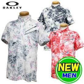 【40%OFF!セール】オークリー / OAKLEY (2020春夏新作!)Skull Aberration Shirts 吸汗速乾/スリムフィット 半袖シャツ/(メンズ)