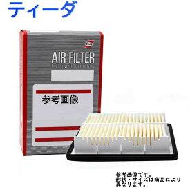 パシフィック工業 エアフィルター 日産 ティーダ 型式C11用 PA-2636 エアーフィルタ エアクリーナーエレメント エアクリーナーフィルター エアエレメント エアーエレメント AY120-NS045対応 | エアーフィルター エンジン