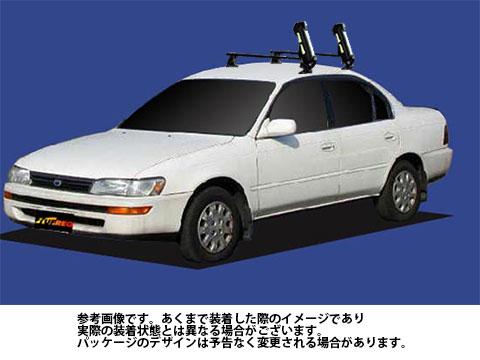 システムキャリア カローラセダン 型式 AE100 AE101 AE104 SS0 スキースノボ 斜積 1台分 タフレック TUFREQ トヨタ TOYOTA