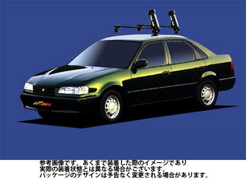 システムキャリア スプリンター 型式 AE110 AE111 AE114 SS0 スキースノボ 斜積 1台分 タフレック TUFREQ トヨタ TOYOTA