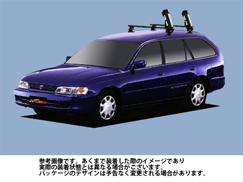 システムキャリア スプリンターワゴン 型式 AE100G AE101G AE104G SS0 スキースノボ 斜積 1台分 タフレック TUFREQ トヨタ TOYOTA