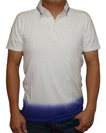 ハムネット 半袖ポロシャツ 白grds HAMNETT/ホワイト/グラデーション/人気ブランド/0147