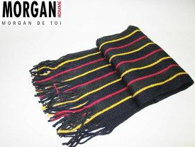 モルガンオム マフラー ストライプ1 MORGANHOMME メンズ 冬物 メンズ 防寒 保温
