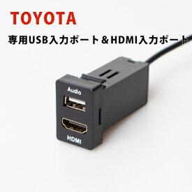 トヨタ車用 TOYOTA【Aタイプ】USB入力&HDMI入力 スイッチパネル 約33×22mm プリウス アルファード ノア エスティマ RAV4 ランドクルーザー車種専用
