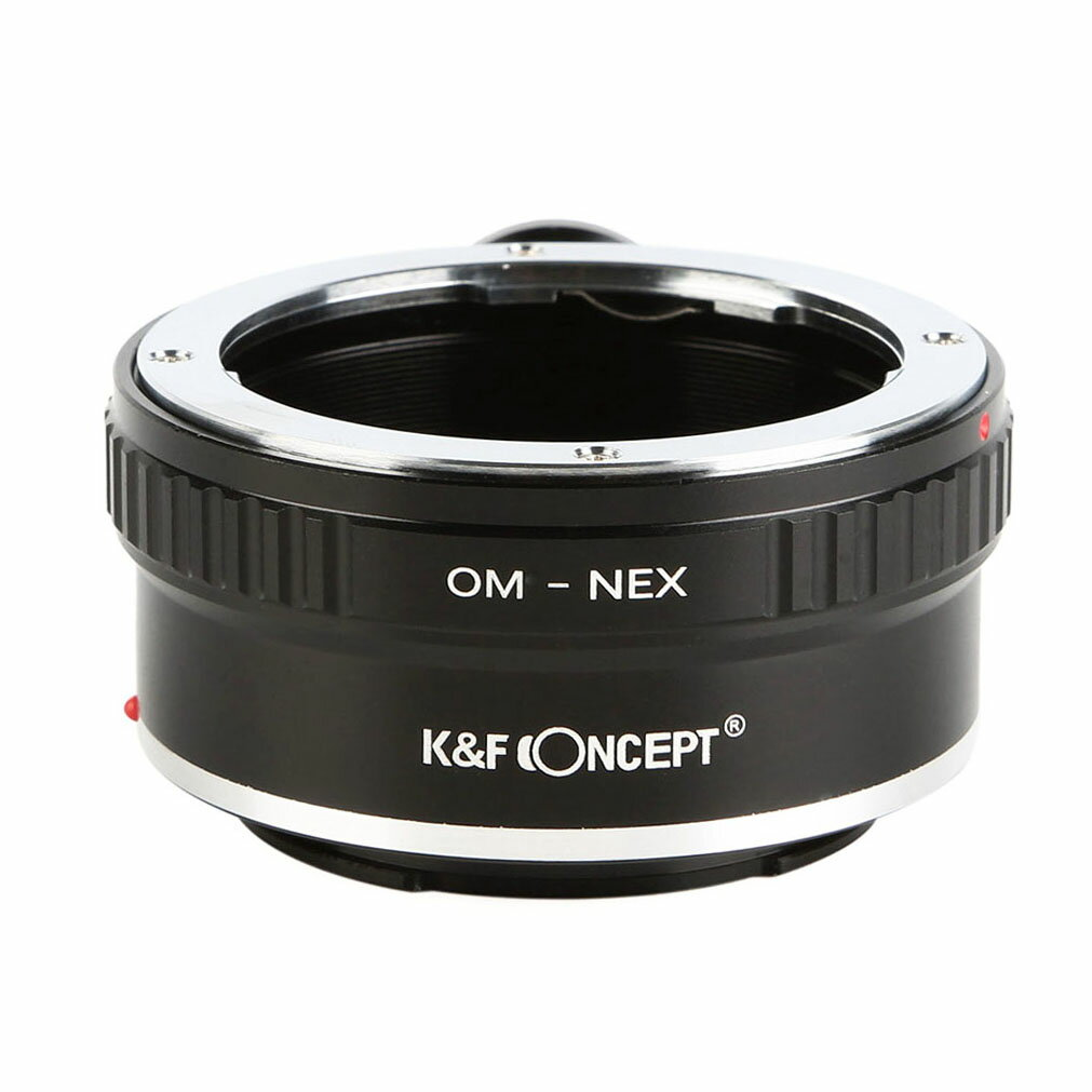 K&F Concept レンズマウントアダプター KF-OME-T (オリンパスOMマウントレンズ → ソニーEマウント変換)三脚座付き