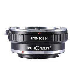 K&FConceptレンズマウントアダプターKF-EFEM(キャノンEFマウントレンズ→キャノンEF-Mマウント変換)
