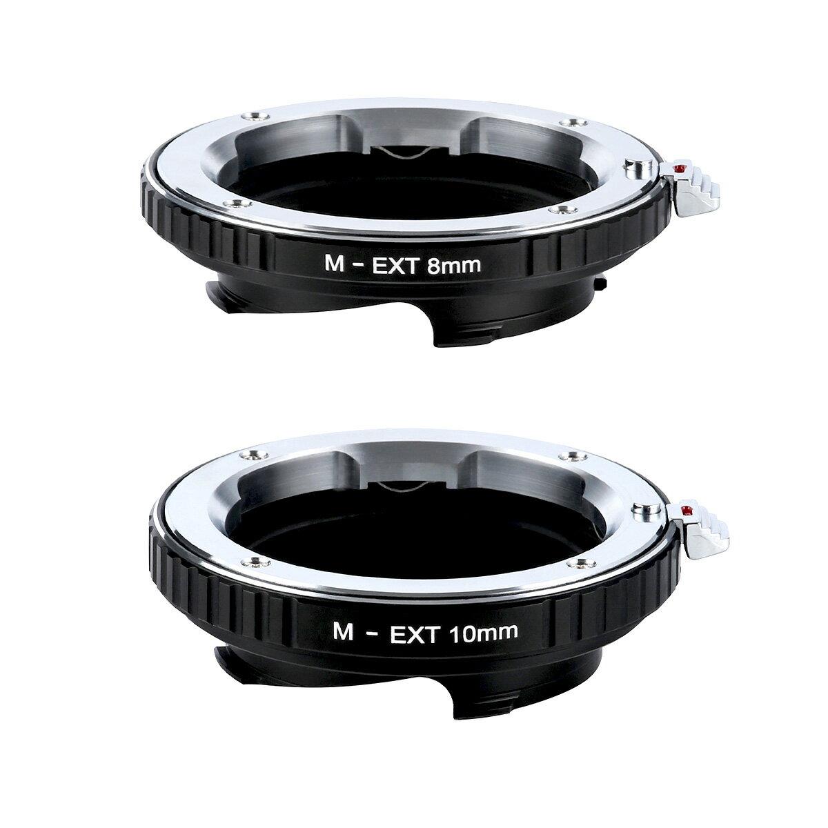 K&F Concept レンズマウントアダプター KF-MM8/10 (ライカMマウント接写リングセット) 8mm / 10mm