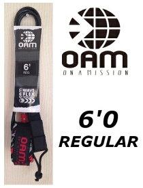 ON A MISSION/OAM REGULAR 6'×7mm TAYLOR KNOX MODEL リーシュコード BLK/RED テイラー・ノックス オン ア ミッション/オーエーエム サーフィン