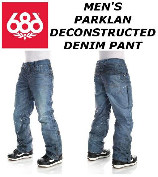 16-17★686 MEN'S PARKLAN DECONSTRUCTED DENIM PANT 送料無料 SIXEIGHTSIX シックスエイトシックス メンズ デコンストラクテッド デニムパンツ スノーボードウェア カラー/INDIGO