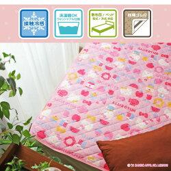 敷きパッドシングル寝具洗えるゴム付約100×205cmピンク接触冷感キティ敷パッド布団カバーオールシーズンプレゼントかわいいSSCHKT-12N