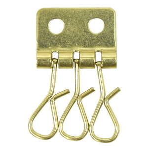 真鍮 キーケース 3連 金具 3連フック 釘 釣りがね 鉄 焼付 メッキ 3連キーケース パーツ