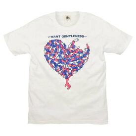 メンズハンド ハート Tシャツ カジュアル デザイン 可愛い アート 半袖