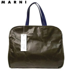 MARNI マルニ CUSHION shopping bag バイカラー レザートート オリーブ×ブルエッテ【新品】【smtb-TK】【YDKG-tk】【コンビニ受取対応商品】【あす楽】レディース ブランド バッグ