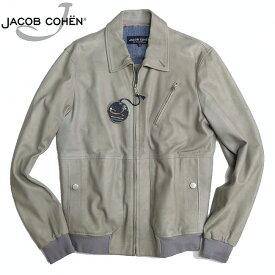 ヤコブコーエン JACOB COHEN 味出しレザー ジャケット J8054 ミディアムグレー 48サイズ【新品】【YDKG-tk】【コンビニ受取対応商品】【あす楽】 ブランド メンズ アウター ブルゾン