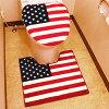 【USAトイレカバー&マットセット】星条旗・アメリカン・トイレカバートイレマット・プレゼントUSA