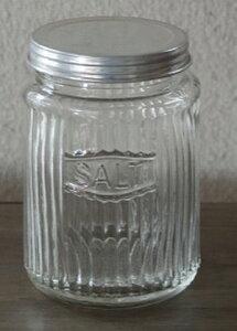 【 ストライプジャー SALT 】カントリー雑貨・ビン・瓶ガラス・HOMESTED・小物入れかわいい・可愛い・プレゼントレトロ・駄菓子ビン
