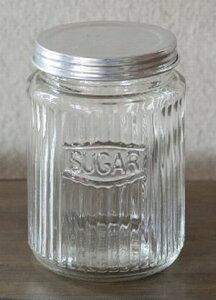 【 ストライプジャー SUGAR 】カントリー雑貨・ビン・瓶ガラス・HOMESTED・小物入れかわいい・可愛い・プレゼントレトロ・駄菓子ビン