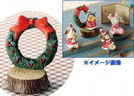 【ノーティーキャロル ガーデンマスコット 切り株リース】クリスマスツリー・ナチュラルツリー・かわいい・可愛いプレゼント