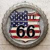【アメリカンスタイルウォールデコ】AmerikanStyleWallDeco・壁掛けTIN・USA・ROUTE66ルート66・星条旗