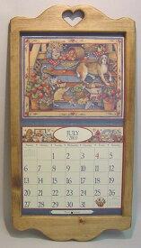 【カレンダーフレーム ハート】カントリー雑貨・カントリー家具・ナチュラルアメリカン・フレンチ・手作りコルク・壁掛け・かわいい