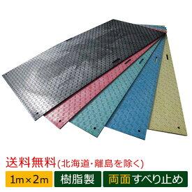 Wボード 工事用樹脂製敷板 両面滑り止めタイプ 1m×2m判 ダブルボード ウッドプラスチックテクノロジー