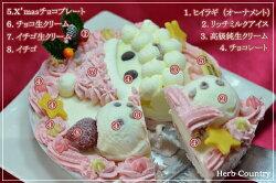 クリスマス限定・サンタクロースアイスケーキ(ストロベリーピンク)