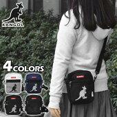 KANGOL(カンゴール)ポリキャンバスボックスロゴメッシュポケットミニショルダーバッグ
