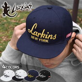 LARKINSラーキンスアクリル刺繍ロゴニューヨークベースボールキャップ