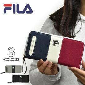cb8ab900e325 FILA (フィラ) ポリキャンバス ラウンドファスナー 長財布/レディース メンズ ラウンドジップ ファスナー