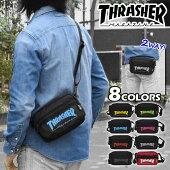 THRASHER(スラッシャー)ポリキャンバスカラーロゴ2wayミニショルダーバッグ