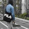 FILA(フィラ)キャンバスビッグロゴショルダーバッグ