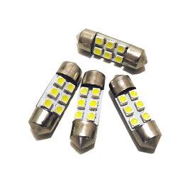 4個セット T10x31mm LEDルームランプ 6連 ホワイト