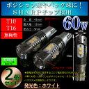 T10 T16 60w SHARPチップ LED ポジション・バックランプ ホワイト(5500k or 9000k) 無極性 【ハイブリッド車対応】●